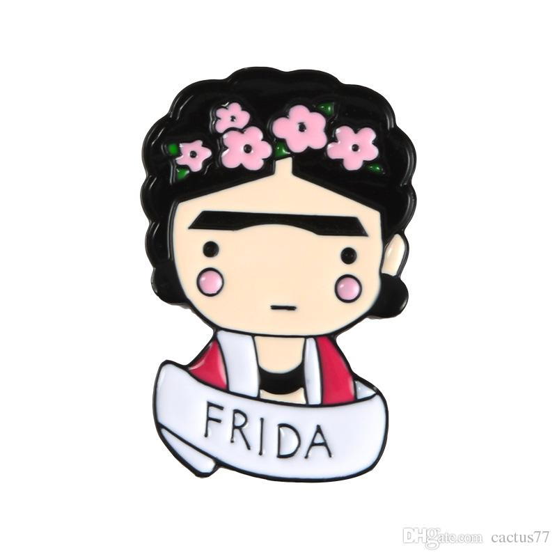2019 HQ Frida Kahlo Painter Mexican Artist Enamel Pins Women Metal  Decoration Brooch Bag Button Lapel Pin Men Broach Jewelry Gift From  Cactus77, $0 71