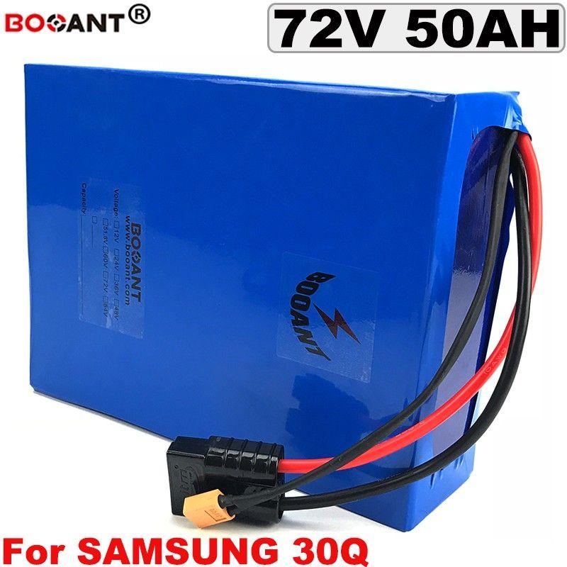 Batterie au lithium 72V 50AH E-bike pour Samsung 30Q 18650 cellulaire Batterie au lithium électrique 72V vélo pour 5000W 9000W moteur livraison gratuite