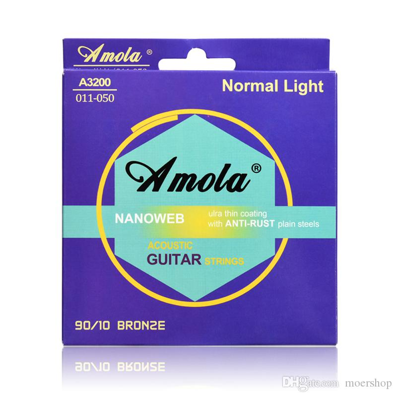 Acoustic Guitar Strings A3200 011-050 NANOWEB 90/10 BROZE Normal Light 1-6th Wound Acoustic Guitar Strings