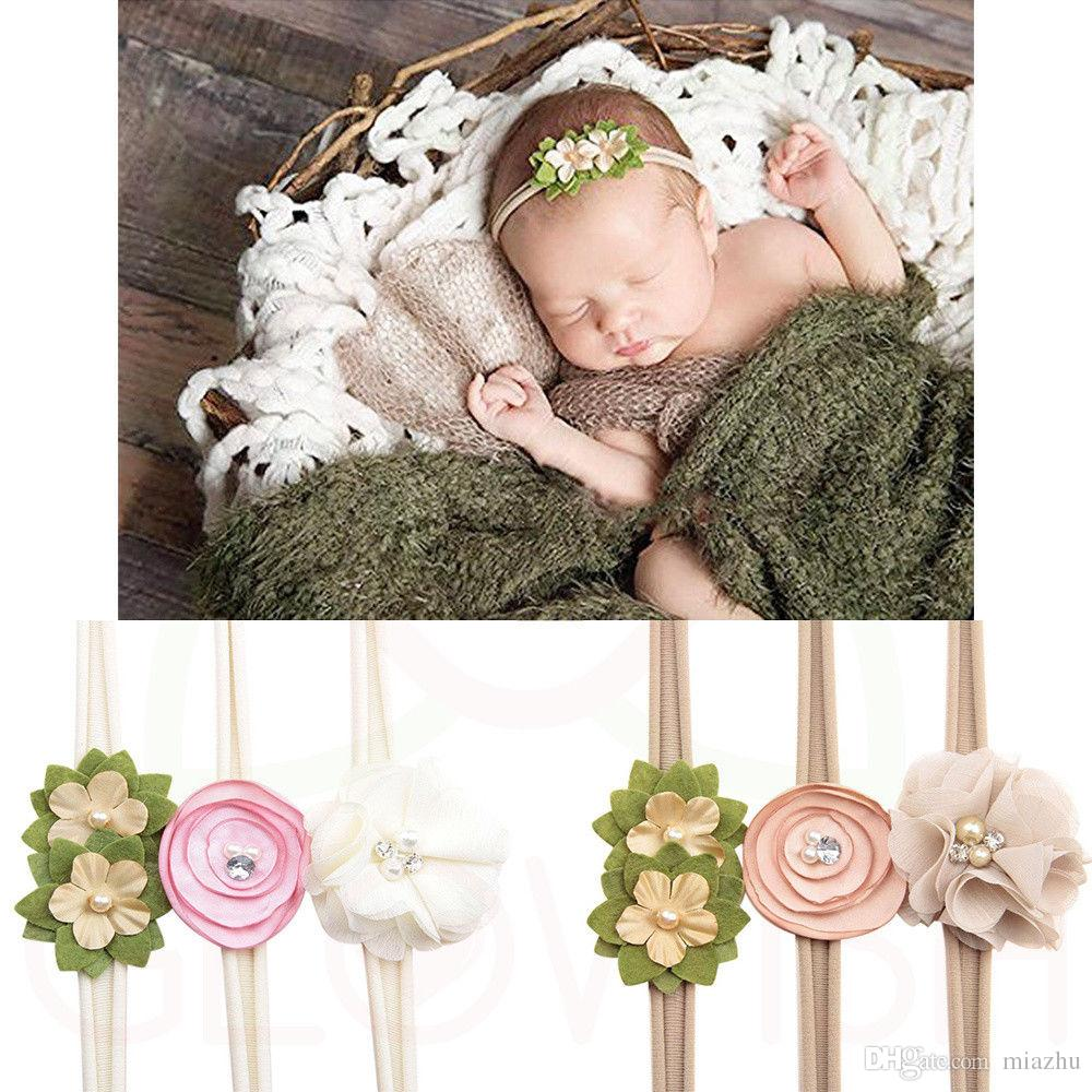 Beauty Baby Girls Infant Toddler Flower Bow Headband Hair Band Accessories