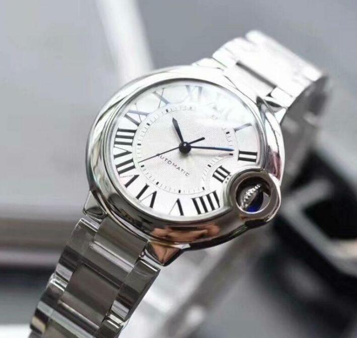Orologi da uomo Orologi movimento dell'orologio auto ballon nastro in acciaio W6920071 Movimento donne V6 da polso impermeabile bianco