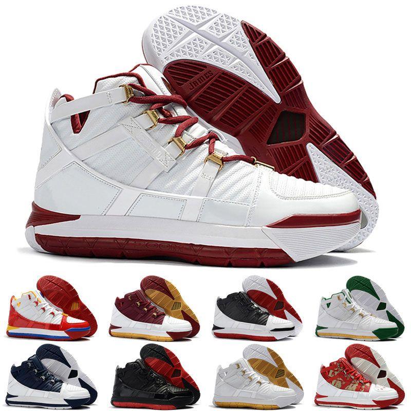 عالية الجودة الثالث 3 المنزل أحذية كرة السلة 3 أبيض البحرية سوبربرون CTK الرجال مصمم رياضية رياضية