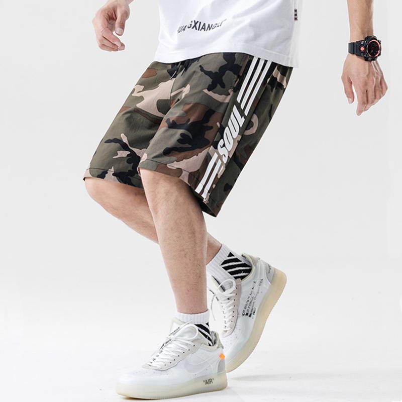 Marque Shorts de Camouflage Hommes de polyester short loose design original hip hop masculin de jogging hommes 2020 sports d'été