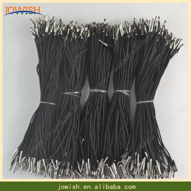 100 PC pro Los-Schwarz / Weiß / Pink Polyester Cords Haken Stretch Schnur mit Metallwiderhaken elastischen Schnur für Maske Dekoration