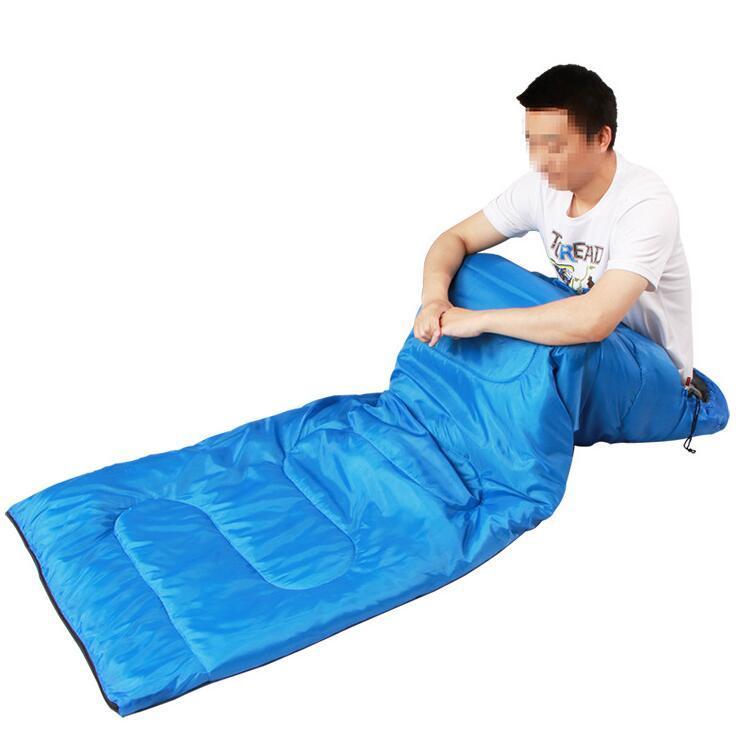 ارتفاع درجة حرارة النوم واحد حقيبة في الهواء الطلق النوم وسائد هوائية عادية للماء والبطاطين ومغلف التخييم المشي لمسافات طويلة للسفر البطانيات كيس النوم LXL964-1