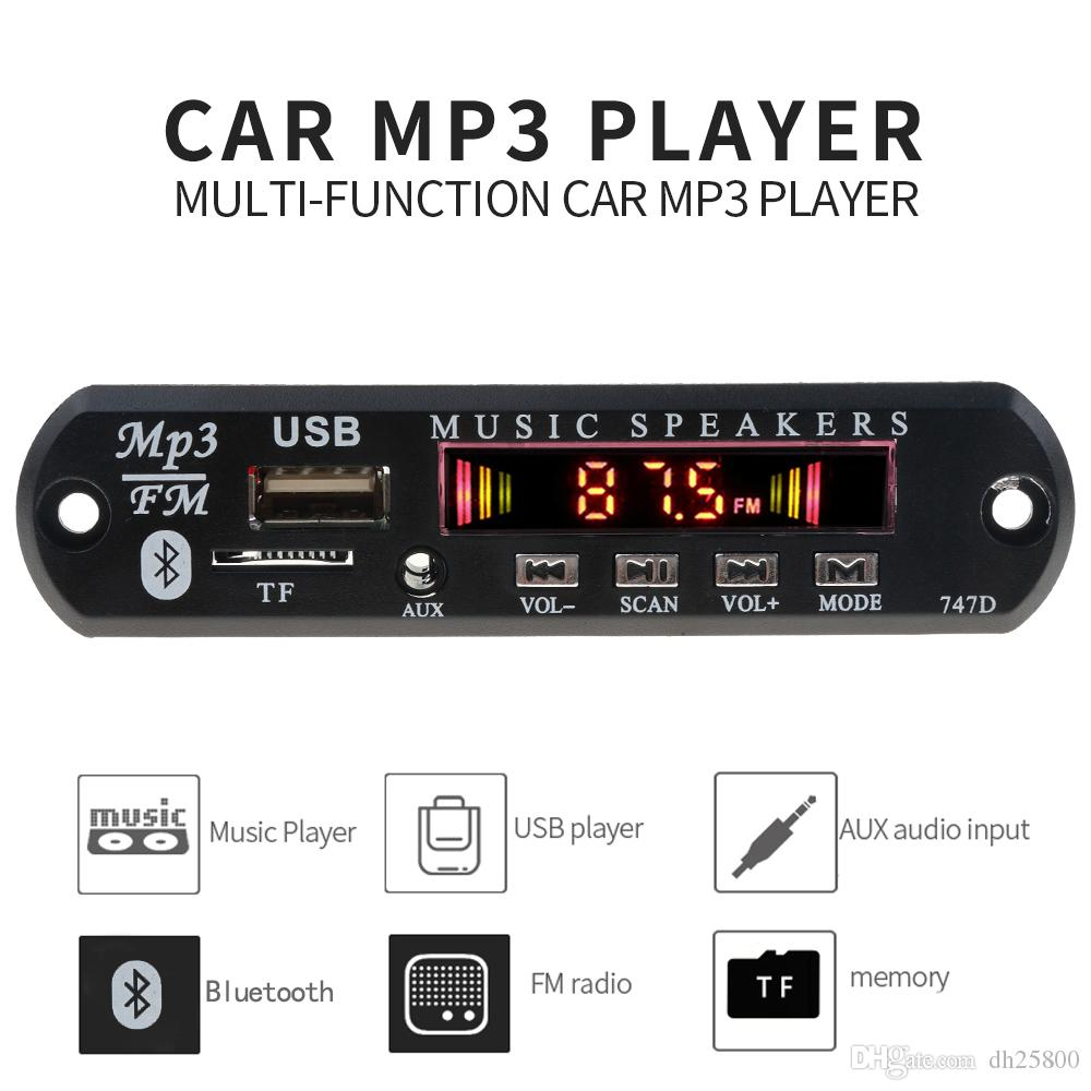 Reproductor de MP3 del kit del decodificador Junta de radio de FM TF USB 3.5 mm AUX Módulo Receptor Bluetooth Car Audio para el envío de IPhone 8 XS Xiaomi MI gratuito