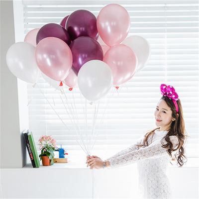 생일 풍선 모듬 색상 라텍스 풍선 생일 파티 결혼식 및 이벤트 아이 아이 장난감 공기 공 EEA701