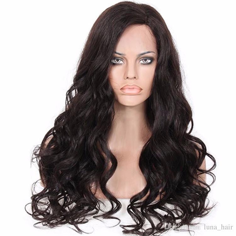 Peluca larga de encaje de calidad superior, grande, rizado, nuevo, color natural, largo Peinado largo 130 150 180% Densidad suizo / encaje francés