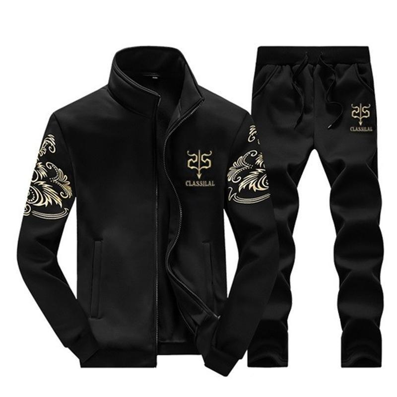 Tracksuits Men Leisure Sport Suit Black Winter Men's Sportswear Brand Hoodies Hip Hop Jogger Set Cool Sweatshirt Sudaderas Hombre M-4XL