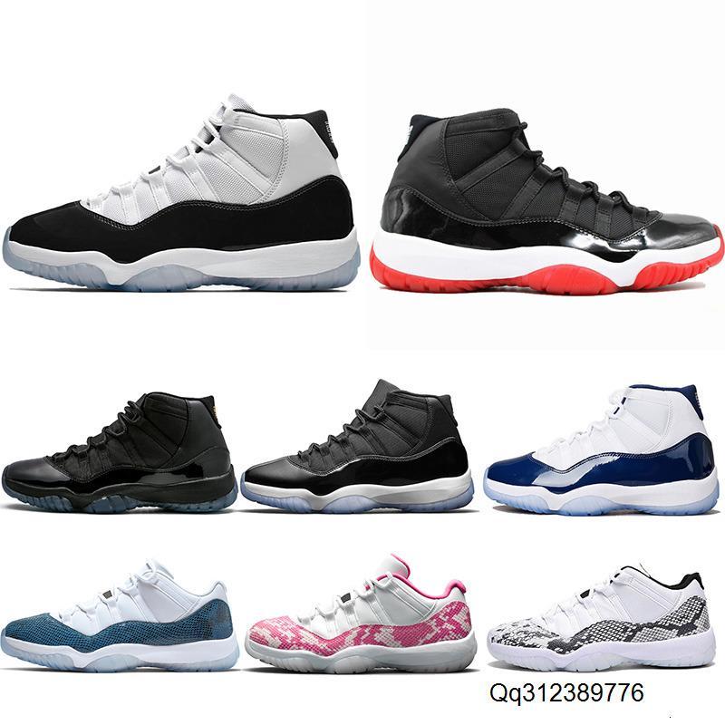 11 pas cher Marine rose 11s Concord 45 Snakeskin chaussures de basket-ball Hommes Bred Space Jam chapeau et robe entraîneur des hommes de sport Chaussures de sport Livraison gratuite