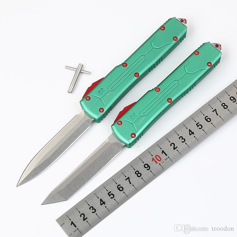 High-End Star UT A6 Aviación Aluminio Doble Acción Táctica Autodefensa Plegable Cuchillo EDC Cuchillo Camping Cuchillo Cuchillos Cuchillos Regalo de Navidad