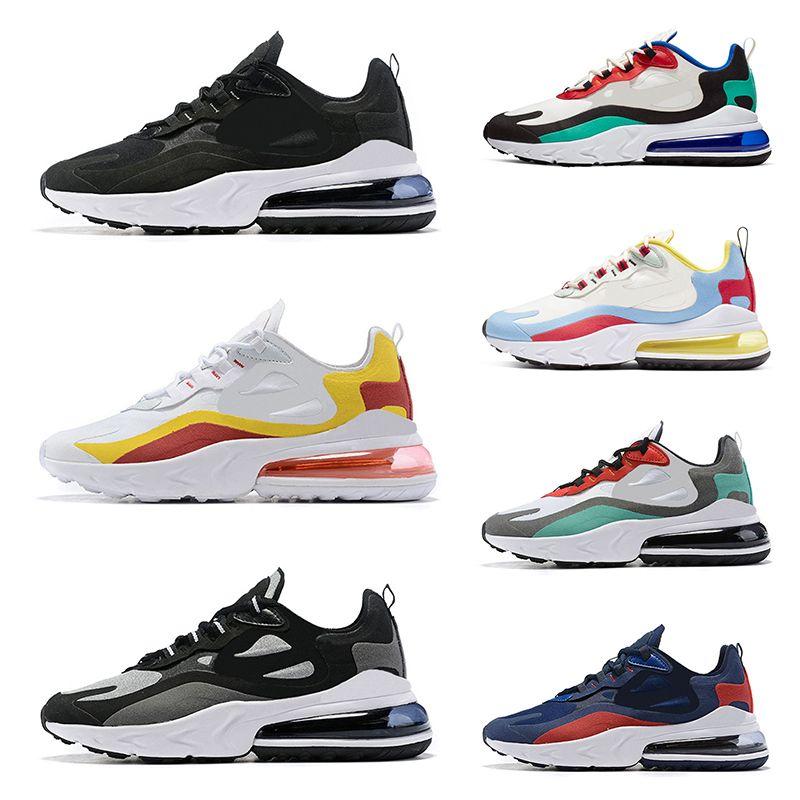 Compre 2019 Nike Air Max 270 React Hombres De Moda Reaccionan Zapatillas  Deportivas De Alta Calidad Triples Negras Navymens Zapatillas Deportivas A  ...
