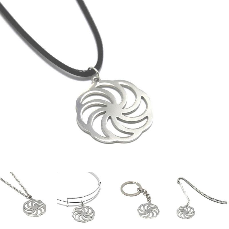 Wheel of Eternity charm necklace Kolovrat Sun Cross Emblem Armenia Amulet Talisman Sign bangle keyring bookmark