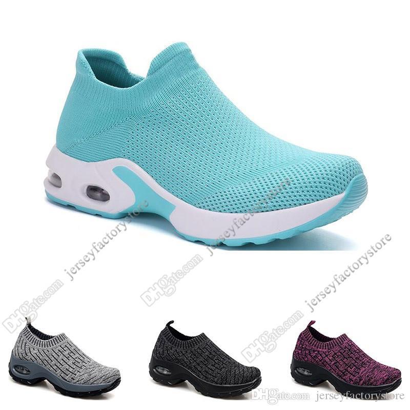2020 Nouveaux chaussures de course Arrivel pour Femme Noir Blanc Rose Boule Gris Oreo Sports Sneakers Sneakers Formateurs 35-42 Big Taille Onze