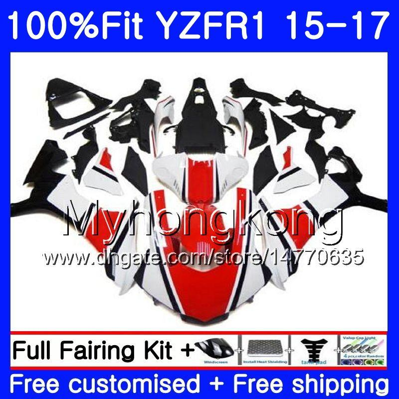사출 성형기 YAMAHA YZF R1 1000 YZF-R1 15 16 17 243HM.9 YZF-1000 YZF R 1 YZF1000 YZFR1 공장 적색 흰색 2015 2016 2017 페어링 키트