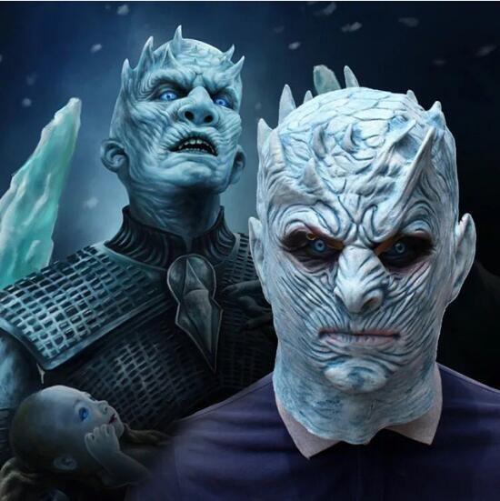 The Movie Game Thrones Night King Cosplay Mask Walker Gesicht NIGHT RE Zombie Latex Party Maske Erwachsene Thron Kostüme