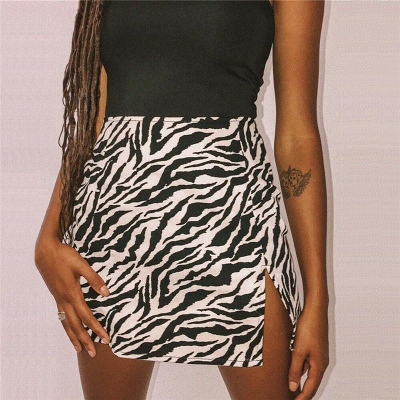 New Ladies Girls Printed Mini Lycra Bodycon Stretch Skirt With Elasticated Waist