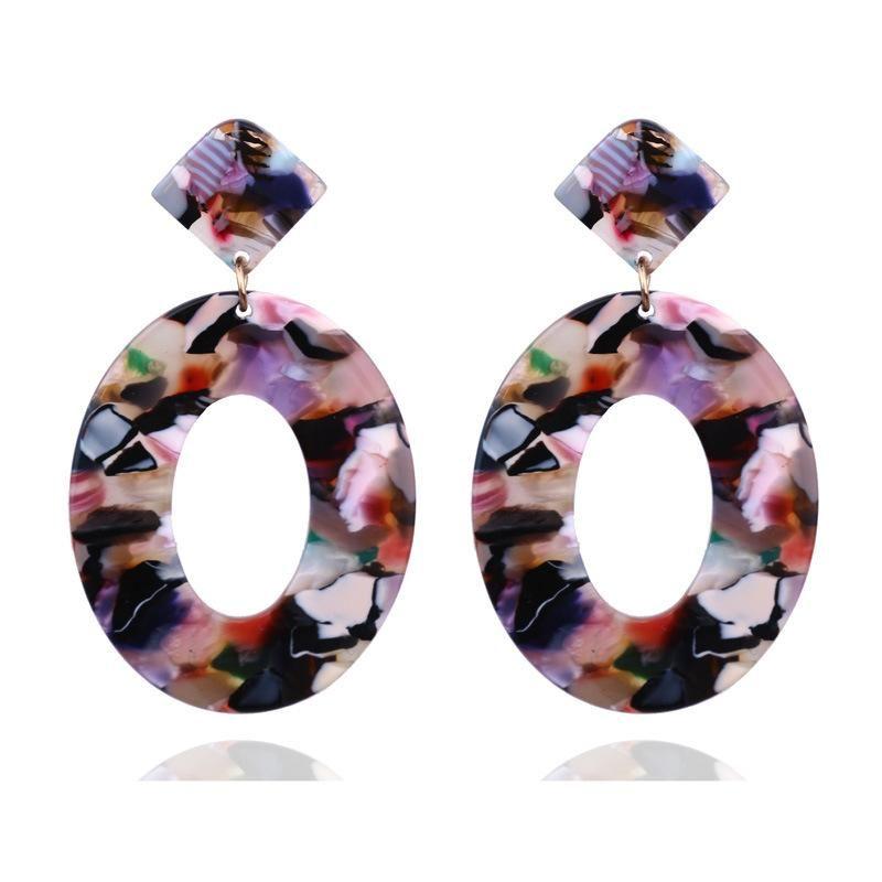 Rotondo della Boemia gli orecchini di dichiarazione per le donne Orecchino femminile Donna del partito monili Earings donna Bijoux Femme Gioielli