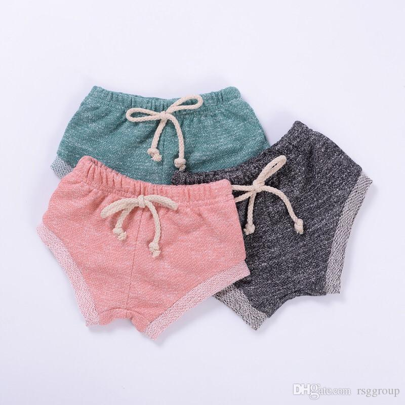 INS Kids Girls Straps Bloomers Blank Kation Caotton Lovely Fashions Baby Girls Shorts PP Pants Designer Kids Clothing