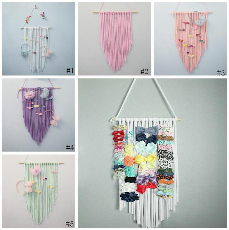 Baby-Haar-Bogen-Speicherband Barrette Hair Organizer Kinder Regenbogen-Farben-Haar-Klipp-Halter DIY hängende Speicher-Stirnband-Anzeige CYP672