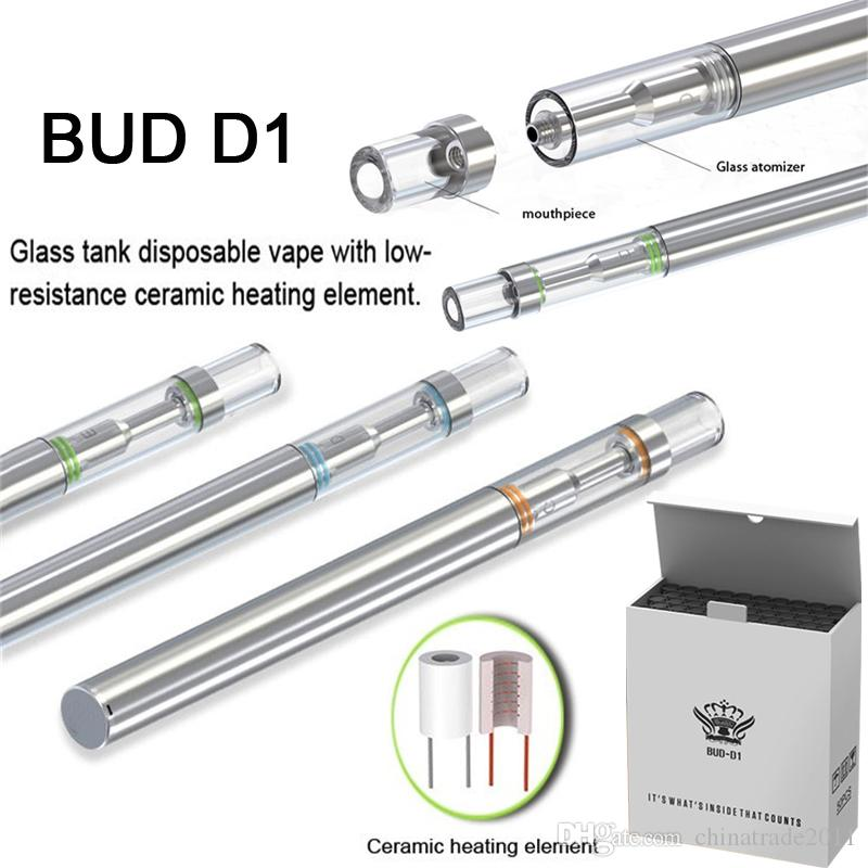 Tek Vape Kalemler D1 Vape Kartuşları 0.5ml Seramik Bobin boşaltın Yağ Vape Kartuşları 310 mAh 510 Konu Pil e-sigaralar Buharlaştırıcı Kalemler