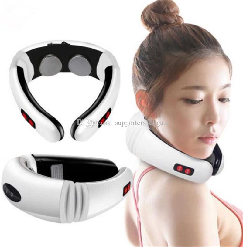 Mini Neck Massager Multifunctional cervical spine Body massage apparatus Electric pulse Impulse Magnetic traction frequency electrode patch