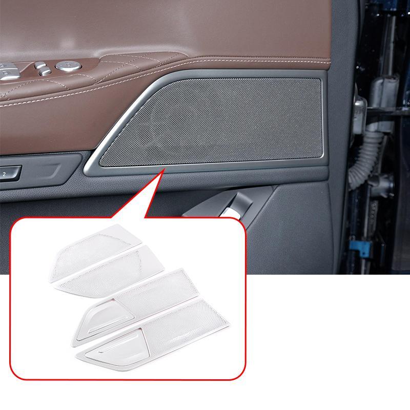 6 Pz Accessori auto Pannello di lega di alluminio della porta altoparlante Per disposizione della copertura della Serie 7 G11 G12 2016-2020