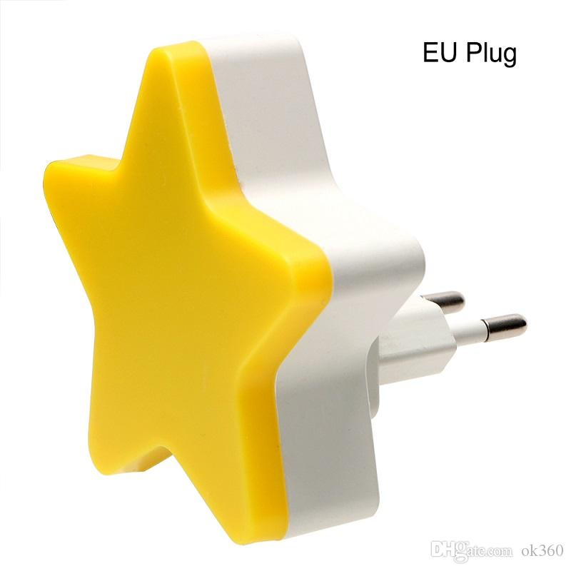 Children Bedroom Wall Lamp Sensor Control EU//US Plug Star Night Light