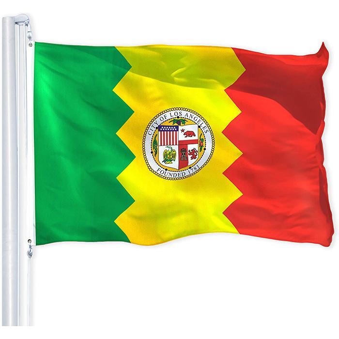 150x90cm Los Angeles City Flags Impression, Impression polyester Publicité Tissu Hanging volant, Livraison gratuite