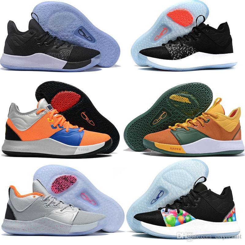 2019 New Paul 농구 화 George PG 3 3S PALMDALE III P.GEORGE Cheap PG3 Starry Blue Orange Red Black Sports Sneakers