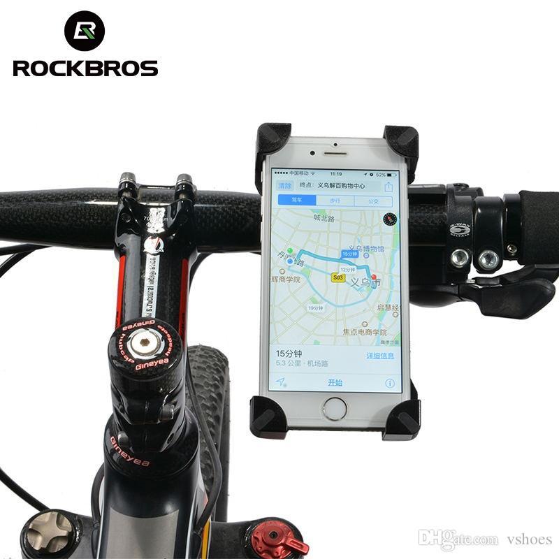 RockBros Cycling Bicycle Handlebar Phone Holder Bracket Fit 3.5-7 inch Phone