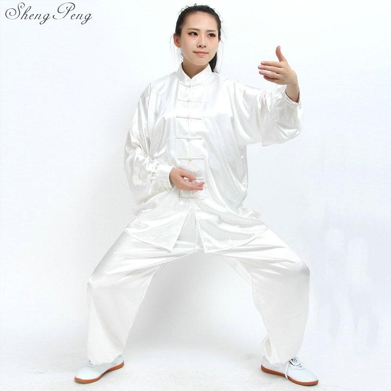 Tai chi clothing women and men chinese taiji wudang suit cotton silk shaolin uniform kungfu set wu shu breathable Q101