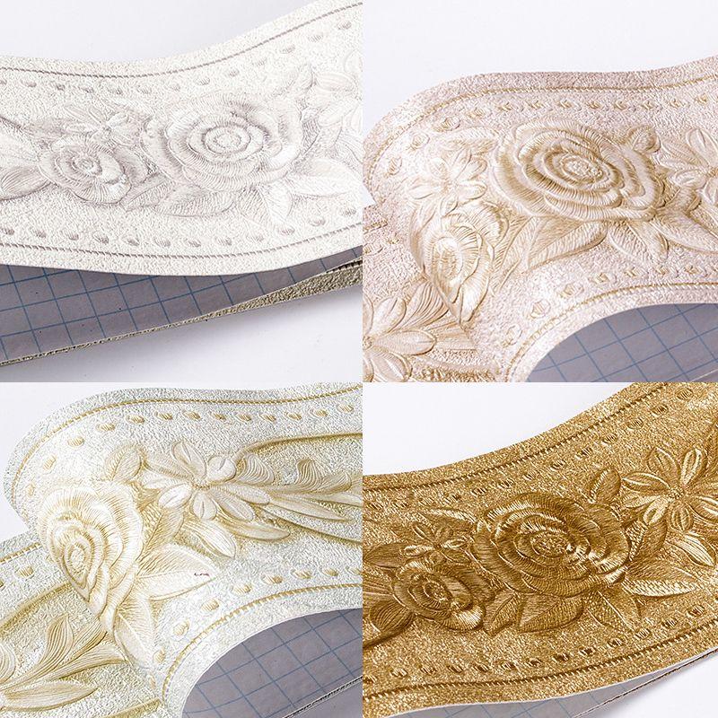 Wasserdichte Fußleiste Selbstklebende 5 Mt Länge Taille Grenze Wandaufkleber 3D Relief Rustikale Fliese Vintage Tapete Grenzen