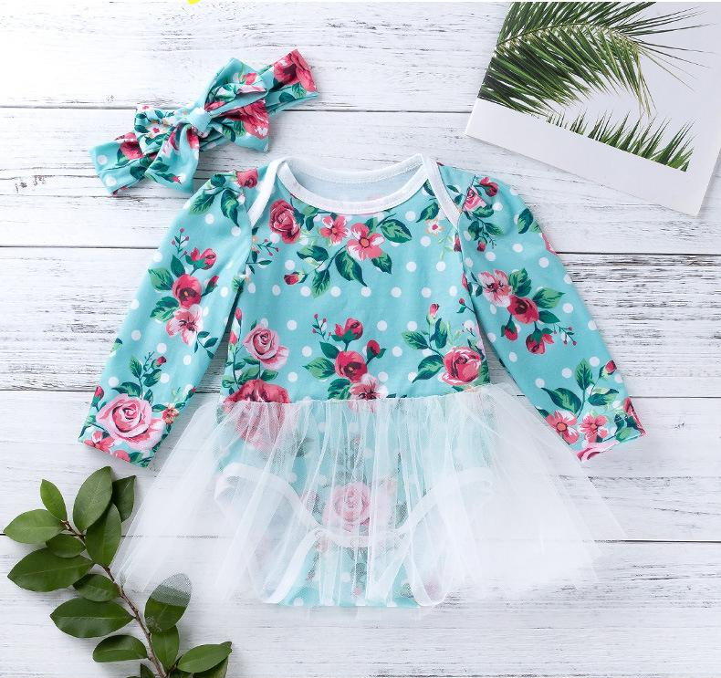 Newborn Baby Girl Cotton Romper+Tutu Skirt Tulle Outfits Dress Clothing 2pcs Set