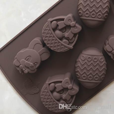 Easter Rabbit Egg Chocolate Mold Silicone Fondant Sugar Bow Craft Molds