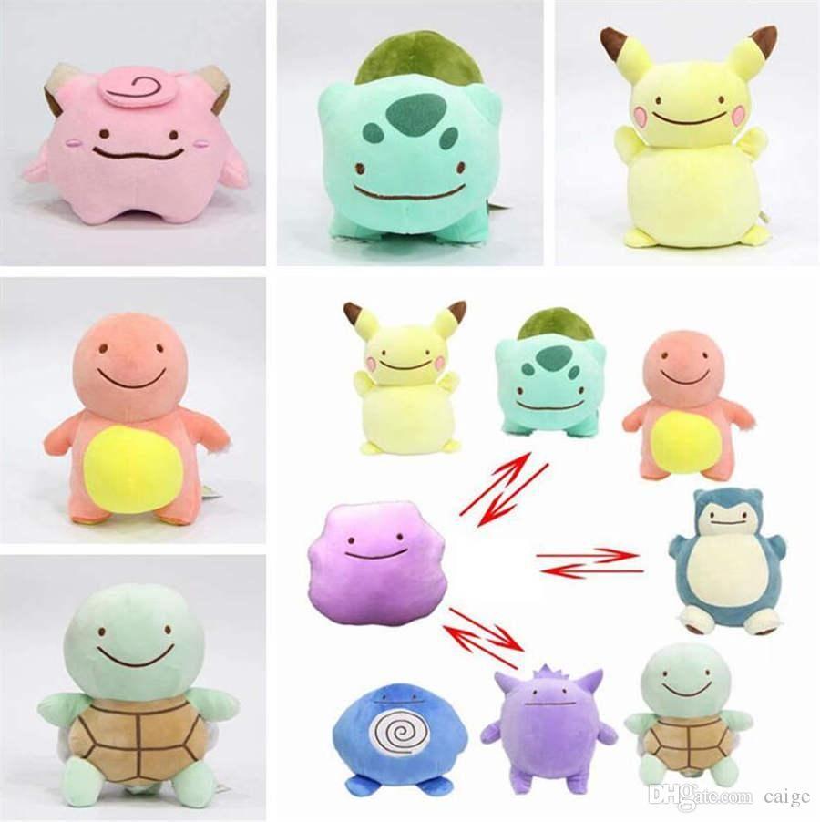 10cm Double-sided pillow Ditto Plush pillow plush toys Bulbasaur Animal Plush Stuffed Toys For children gift