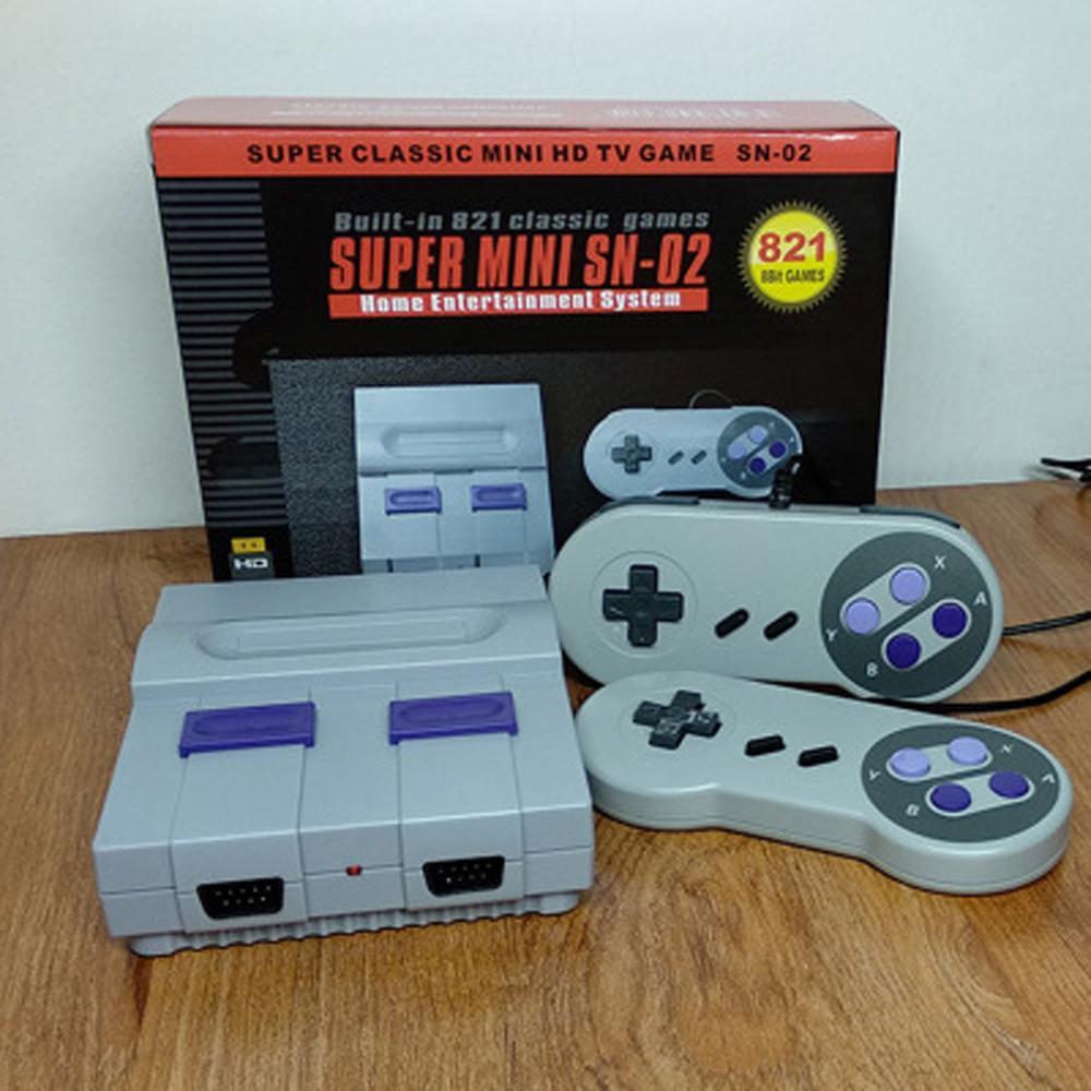 HDMI Out TV Video Super Mini SN-02 821 Game Console Xmas Handheld Consolas infância para HD NES SFC Retro Games Christmas Gift TF