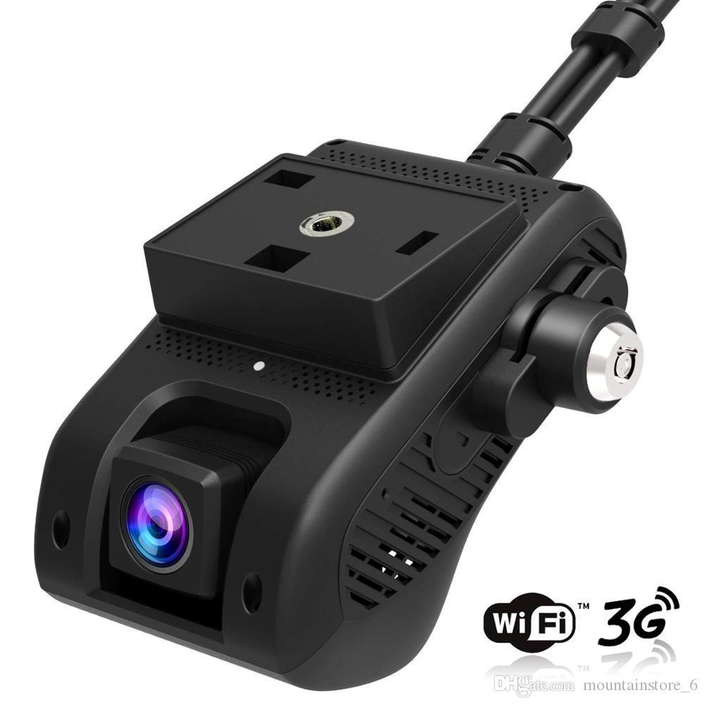 EdgeCam Pro 3G Araba DVR Dash Kamera Kamera Araba HD Ile HD 1080 P Çift Kamera GPS Izci Uzaktan Izleme Canlı Akışı