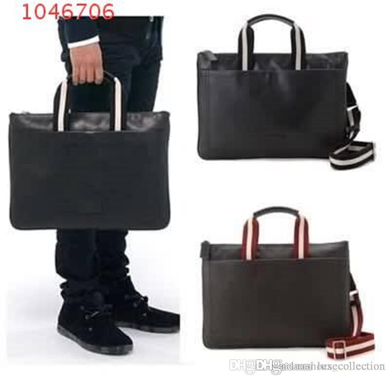 2019 The latest Fashion classic bags , Black Large capacity briefcase man handbag for men use,Size 38-3-27 cm