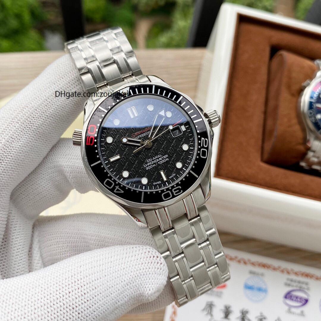 alta qualità 2020 James Bond 007 uomini lo sport orologio da polso Aqua Terra maestro mare orologi Mens Watch D0303