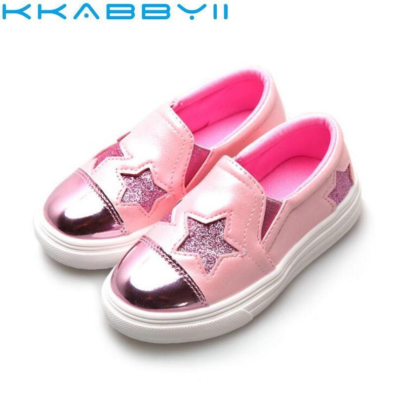 Sapatos casuais Crianças Meninos Tênis 2018 Estrelas Da Primavera Macio Moda Meninos Meninas Sapatos Respirável Correndo Bebê Para A UE 26-36