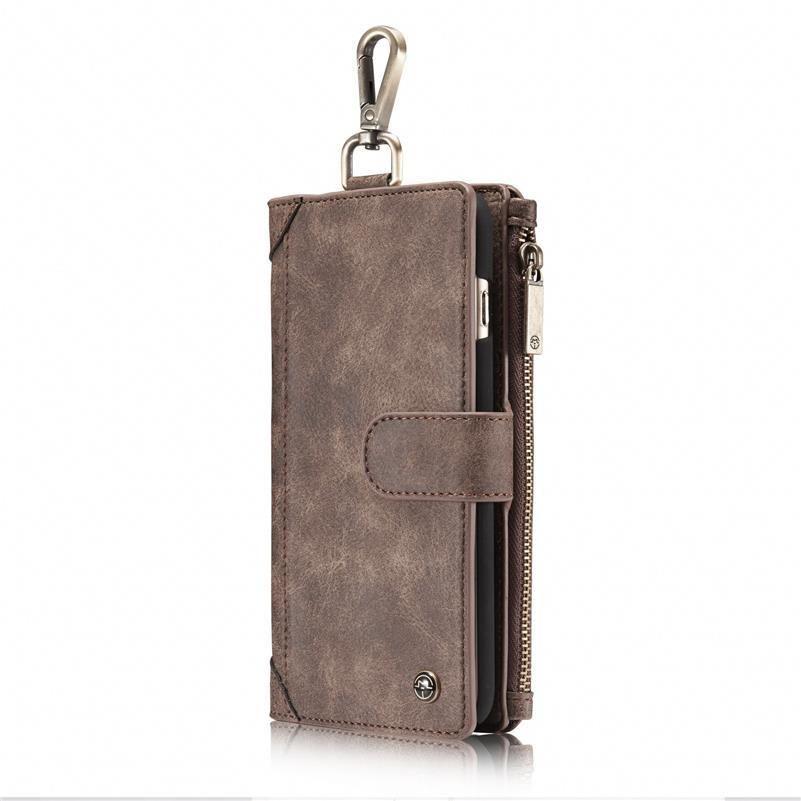 Para iPhone 6p 6s Mais de Caso Cinto Retro Bag Ith Zipper Virar Wallet Celular Caixa