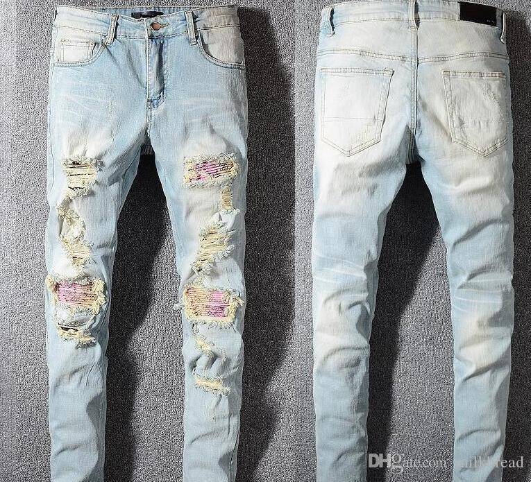 Crime homens maus skinny jeans pilotos marca de jeans motocicleta denim qualidade de moda mens designer de hip hop jeans é muito bom # 002