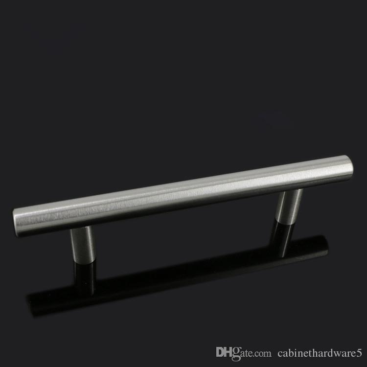 Updrade Modern Mobilya Kabine Çekin Kolları Fırçalanmış Nikel 3 Inç 76mm Delik Merkezi Banyo Dolap Kapı Çekmece Kolları T Bar Paslanmaz Çelik