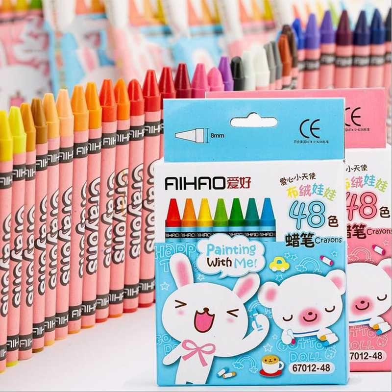 8/12/24/48 Cores Crayons Pastel Art desenho da pena pintar graffiti Pen Escola de Arte escritório Produtos de papelaria Lápis de cor For Kids