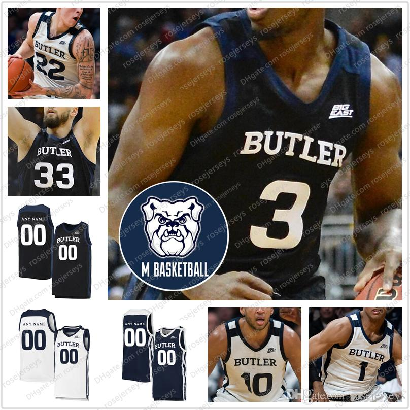 Personalizzato 2020 Butler Bulldogs Basket # 3 Kamar Baldwin 2 Aaron Thompson 22 Sean McDermott 10 Bryce Nzé Uomini Gioventù Kid maglie 4XL