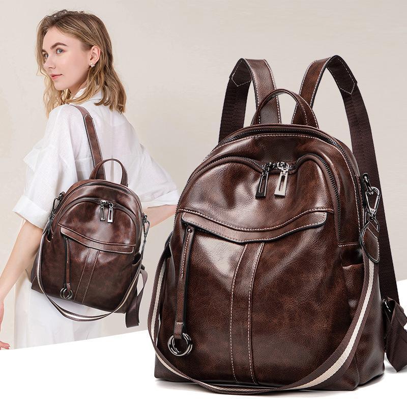 2019 nuova borsa a tracolla in pelle femminile onda coreana di tracolla in pelle di marca borsa multifunzionale di grande capacità Ms.