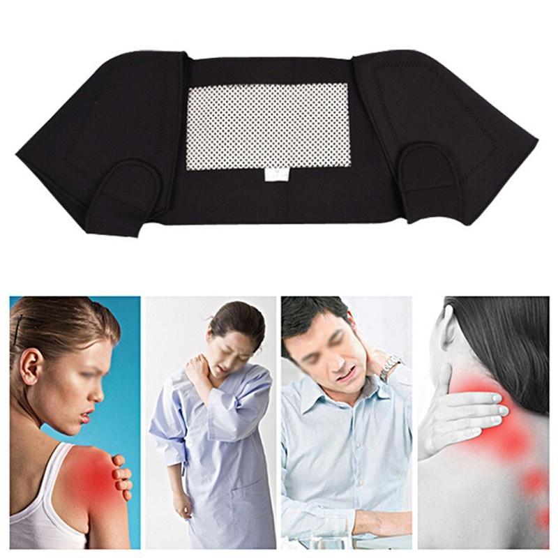 Самонагревание плеча Магнитная терапия Поддержка Brace Пояс для спины Корректор осанки Массажер обезболивание
