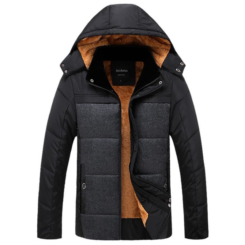 Kış Coat Kısa Pamuk dolgulu Giyim Artı Kadife Kalın orta yaşlı ve yaşlı insanlar Kış Erkek Pamuk kıyafetleri