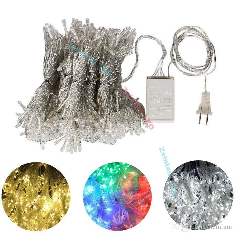 Nova moda Cortina de Luz 3 * 1 M 3 * 3 M conduziu Cordas de fadas lâmpadas Festival do hotel luzes da festa de casamento de Natal casa decoração LED tira